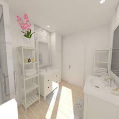 Rénovation d'une maison des années 70 - Frontonas: Salle de bains de style  par 1.61 design
