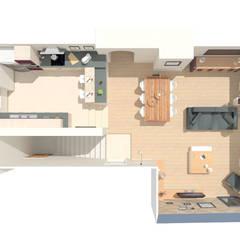Décoration de l'espace salon/salle à manger - Sermérieu: Maison individuelle de style  par 1.61 design