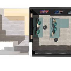 Décoration des pièces d'une maison - St Just Chaleyssin: Planchers de style  par 1.61 design