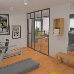 Décoration des pièces d'une maison - St Just Chaleyssin: Salle de sport de style de style Moderne par 1.61 design