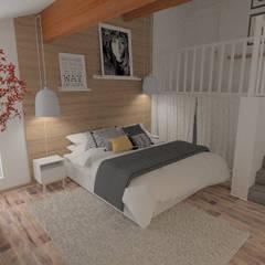 Décoration des pièces d'une maison - St Just Chaleyssin: Chambre de style  par 1.61 design