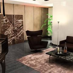 Atölye Teta – KA Evi Yaşam Alanı: klasik tarz tarz Oturma Odası