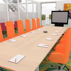 Aménagement d'un espace détente et de salles de réunions - Lyon: Bars & clubs de style  par 1.61 design