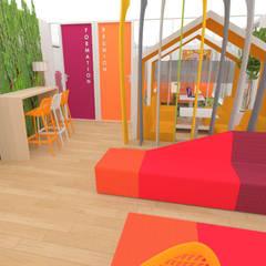 Aménagement d'un espace détente et de salles de réunions - Lyon: Bureaux de style  par 1.61 design
