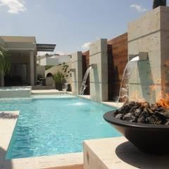 Projekty,  Basen do ogrodu zaprojektowane przez Dintel arquitectura y construcción
