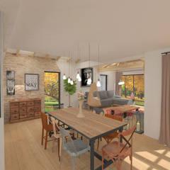 Aménagement et décoration d'une maison neuve - Lagnieu: Salle à manger de style de style Moderne par 1.61 design