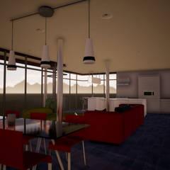 Expansión y apertura visual: Livings de estilo  por BIM Urbano