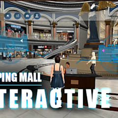 Virtual Interactive shopping Mall Application By Yantram virtual reality studio New York, USA:  Clinics by Yantram Architectural Design Studio