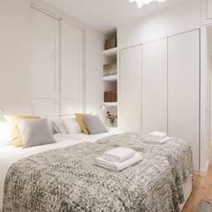 Dormitorio principal de la vivienda de Inés: Dormitorios de estilo  de Rez estudio