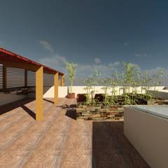 terraza: Terrazas de estilo  por a Arquitecto