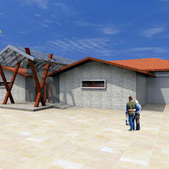 Bider Mimarlık İnşaat Ltd. Şti. – Adıyaman Bölge Parkında Gölet Meydan Kafe:  tarz Yeme & İçme