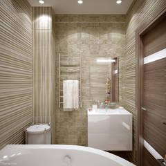 حمام تنفيذ Студия интерьерного дизайна happy.design