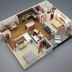 Modelo 2 de projeto em Revit: Casas familiares  por TECHNOCAD PROJETOS