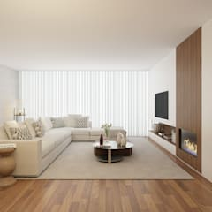 Home for Two: Salas de estar  por 411 - Design e Arquitectura de Interiores,Moderno