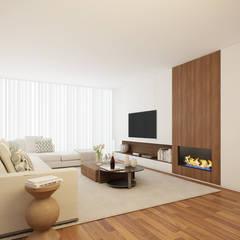 ห้องนั่งเล่น โดย 411 - Design e Arquitectura de Interiores, โมเดิร์น