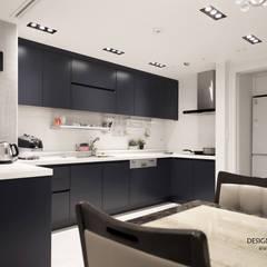 폴딩도어로 확장감을 준 매력적인 아파트_황학동 롯데캐슬46py 디자인담다: 디자인담다의  다이닝 룸