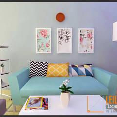 Minimalist House:  Ruang Keluarga by CV Leilinor Architect