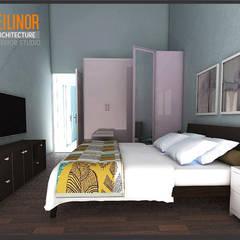 Minimalist House:  Kamar Tidur by CV Leilinor Architect