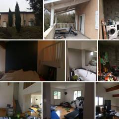 Décoration des pièces d'une maison - St Just Chaleyssin: Escalier de style  par 1.61 design