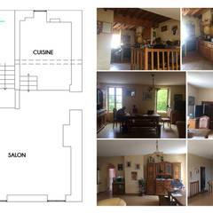 Décoration de l'espace salon/salle à manger - Sermérieu: Escalier de style  par 1.61 design