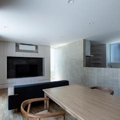 袖ケ浦の家: 松岡淳建築設計事務所が手掛けたダイニングです。,モダン