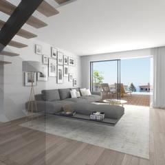 Ocean Villas   Living Concept at Ribamar   Ericeira: Salas de estar  por DR Arquitectos