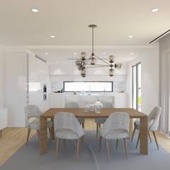Ocean Villas | Living Concept at Ribamar | Ericeira: Salas de jantar  por DR Arquitectos