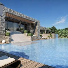 Progetto Villa a Saint Barth: Villa in stile  di studiosagitair