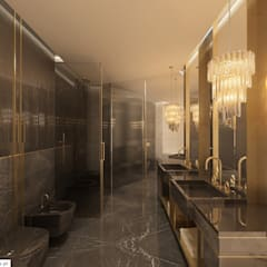 PROJEKT WNĘTRZ APARTAMENTU W WARSZAWIE: styl , w kategorii Łazienka zaprojektowany przez TISSU Architecture