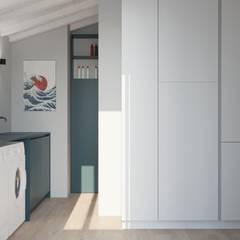 Attico - Interior design: Spogliatoio in stile  di ALMA Architettura | Mario Pan | Alessandro Pezzotti