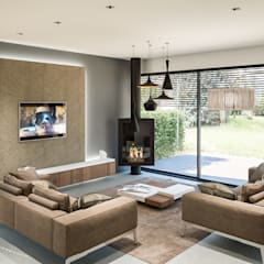 Projet 3D Maison: Salon De Style Par RéHome