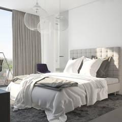 Plan 3D appartement : Chambre de style  par réHome, Moderne