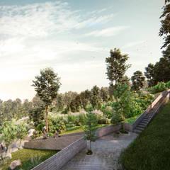 Parque Bosques de Minas: Jardines de piedra de estilo  por RA!