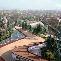 Parque Tecamachalco: Jardines zen de estilo  por RA!