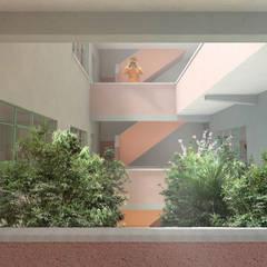 Vacio central: Pasillos y recibidores de estilo  por RA!