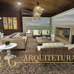Sala de estar: Salas de estar  por DRG ARQUITETURA