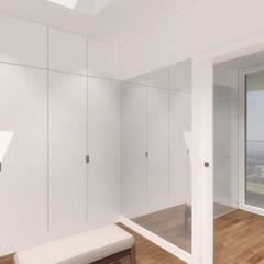Visualização do closet principal: Closets  por Estúdio AMATAM