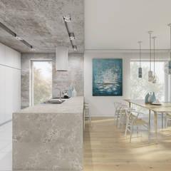 Burza piaskowa: styl , w kategorii Kuchnia na wymiar zaprojektowany przez Creoline