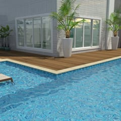 Área de piscina: Piscinas ecléticas por DRG ARQUITETURA