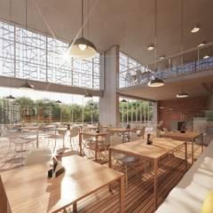 Restaurantes de estilo  por Rodrigo Santos Arquitetura