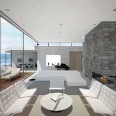 House in Madrid: Salones de estilo  de Studioapart