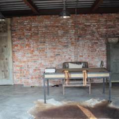RANCHO LA NOPALERA: Estudios y oficinas de estilo rústico por Tema Arquitectos