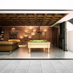 Sala social: Electrónica de estilo  por Stuen Arquitectos