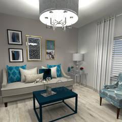 LA SINTONIA PERFECTA : Salas de estilo clásico por PV INTERIOR DESIGN