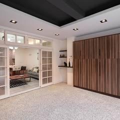 Garage/shed by 層層室內裝修設計有限公司