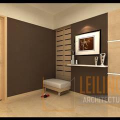 Modern Minimalist House: Koridor dan lorong oleh CV Leilinor Architect,