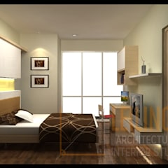 Modern Minimalist House: Kamar Tidur oleh CV Leilinor Architect, Minimalis