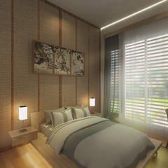 KZ Town House :  Kamar Tidur by Atelier BAOU+