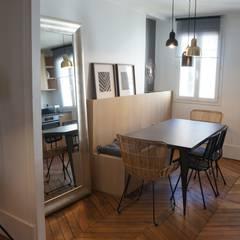 espace banquette: Cuisine de style de style Classique par Laure van Gaver