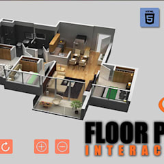Virtual Reality Floor Plan By Yantram Virtual Reality Studio New York, USA:  Clinics by Yantram Architectural Design Studio